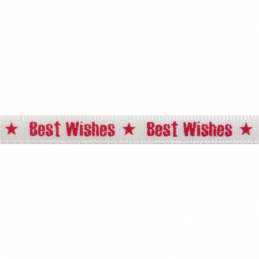 6mm x 4m Satin Best Wishes Star Ribbon Multi Colour Celebration