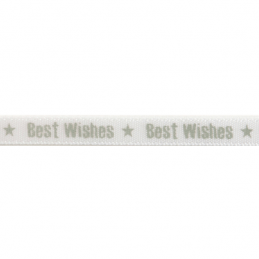 6mm x 4m Satin Best Wishes Star Ribbon Multi Colour Celebration
