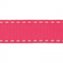 Grosgrain White Stitch Edge 6mm x 5m Ribbon Multi Colour Celebration