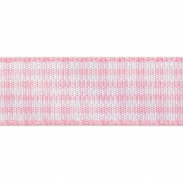 Gingham Polyester 9mm x 5m Craft Ribbon Multi Colour Celebration