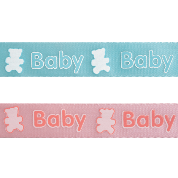 25mm x 3m Baby & Teddy Bears Ribbon Multi Colour Celebration