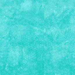 Turquoise 100% Cotton Fabric Makower Dimples Tonal Honeycomb