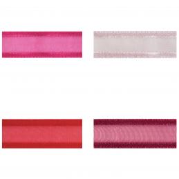 Satin Edge Nylon Organza Split 20mm x 4m Craft Ribbon Multi Colour Celebration