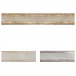 Satin Edge Nylon Organza Split 38mm x 4m Craft Ribbon Multi Colour Celebration