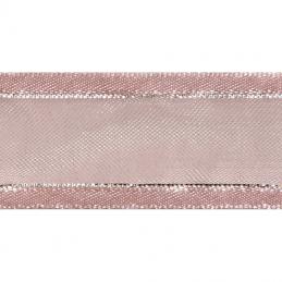 Satin Edge Metallic Silver Stripe Organza 20mm x 4m Craft Celebrate Ribbon