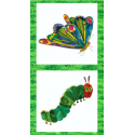 The Very Hungry Caterpillar Panel Butterfly 100% Cotton Fabric (Makower)