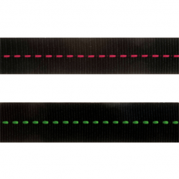 15mm x 4m Dotted Line In Centre Ribbon Grosgrain Wire Edge Celebration