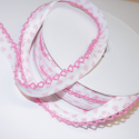 Pink 14mm Floating Hearts Frilled Edge Lingerie Style Bias Binding
