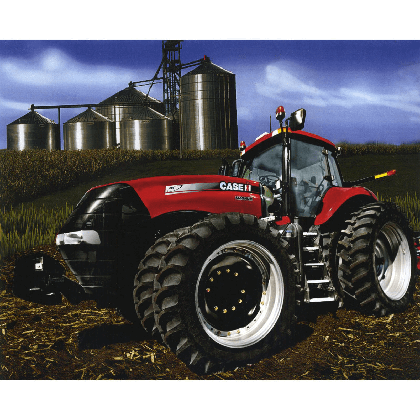 CASE Hard Work At The Farm Tractors Panel 100% Cotton Fabric