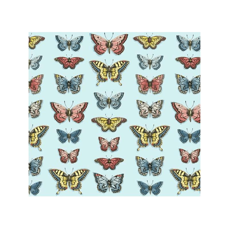 Vintage Journal Butterflies 100% Cotton Quilting Patchwork Fabric (Makower)