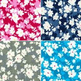 100% Cotton Poplin Fabric Rose & Hubble Petals Flowers Floral Hill Valley Lane