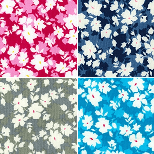 Silver 100% Cotton Poplin Fabric Rose & Hubble Valley Lane Petals Flowers Floral