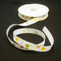 2 Metres 16mm Bertie's Bows Easter Chicks and Flowers Grosgrain Craft Ribbon