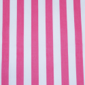 Cerise Polycotton Fabric Stripe 12mm Candy Stripes