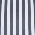 Charcoal Polycotton Fabric Stripe 12mm Candy Stripes