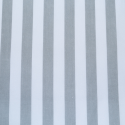 Silver Polycotton Fabric Stripe 12mm Candy Stripes