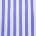 Lilac Polycotton Fabric Stripe 12mm Candy Stripes