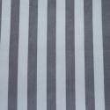 Silver / Grey Polycotton Fabric Stripe 12mm Candy Stripes
