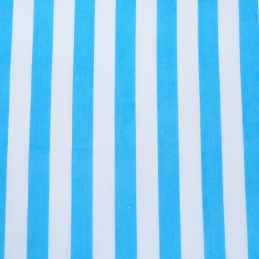 Turquoise Polycotton Fabric Stripe 12mm Candy Stripes