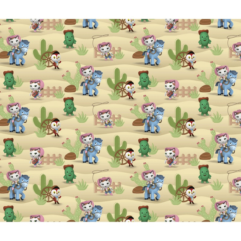 Disney Sheriff Callie's Wild West Sparky Deputy Peck 100% Cotton Craft Fabric