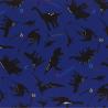 Sale 100% Japanese Cotton Fabric Lecien Prehistoric Dinosaur Silhouettes Names