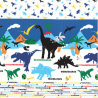 Sale 100% Japanese Cotton Fabric Lecien Prehistoric Dinosaurs Border Names