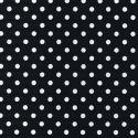 Black Polycotton Fabric Oh Sew 4mm Polka Dots Spots Spotty