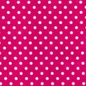 Cerise Polycotton Fabric Oh Sew 4mm Polka Dots Spots Spotty