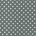 Grey Polycotton Fabric Oh Sew 4mm Polka Dots Spots Spotty
