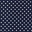 Navy Polycotton Fabric Oh Sew 4mm Polka Dots Spots Spotty