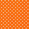 Orange Polycotton Fabric Oh Sew 4mm Polka Dots Spots Spotty