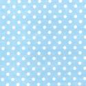 Pale Blue Polycotton Fabric Oh Sew 4mm Polka Dots Spots Spotty