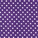 Purple Polycotton Fabric Oh Sew 4mm Polka Dots Spots Spotty