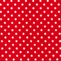 Red Polycotton Fabric Oh Sew 4mm Polka Dots Spots Spotty