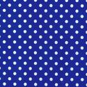 Royal Blue Polycotton Fabric Oh Sew 4mm Polka Dots Spots Spotty