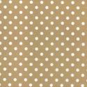 Tan Polycotton Fabric Oh Sew 4mm Polka Dots Spots Spotty