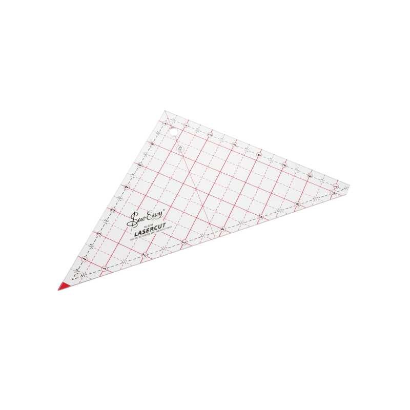 """7.5"""" Sew Easy Patchwork Quilting Ruler Template Triangle"""