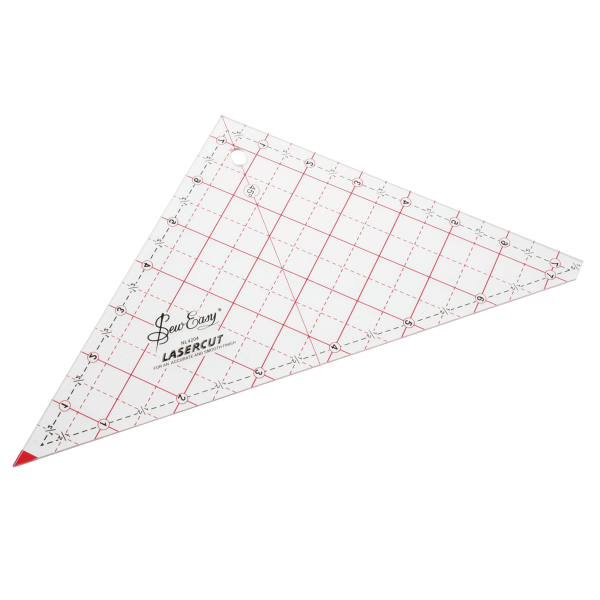 "7.5"" Sew Easy Patchwork Quilting Ruler Template Triangle"
