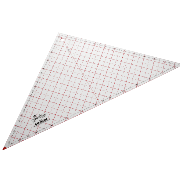 "12.5"" Sew Easy Patchwork Quilting Ruler Template Triangle"