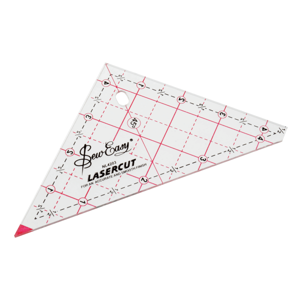 "4.5"" Sew Easy Patchwork Quilting Ruler Template Triangle"