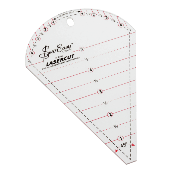 45 Degree Petal Sew Easy Patchwork Quilting Ruler Template