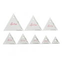 "Mini Triangle Set Sew Easy Patchwork Quilting Template 8 Sizes 0.75"" - 3"""