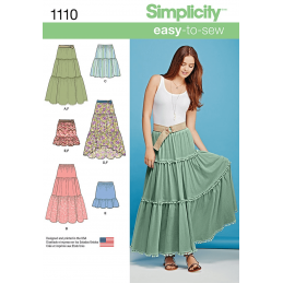 Misses Tiered Skirt with Length Variations Simplicity Sewing Pattern 1110