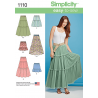 Simplicity Misses Tiered Skirt with Length Variations Sewing Pattern 1110