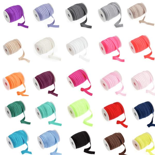 16mm Fold Over Elastic Shiny Soft Tutu Headband Dancewear