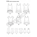 Misses' Easy-To-Sew High Low Knit Tops and Vests Simplicity Sewing Pattern 1113