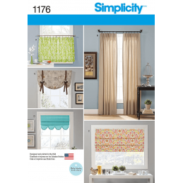 Window Treatments Curtains Roman Blinds Simplicity Sewing Pattern 1176