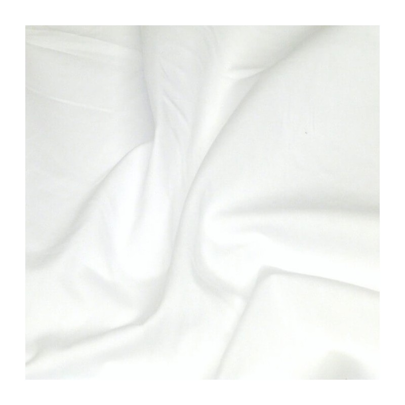 100% Plain Cotton Poplin Fabric Rose & Hubble White