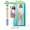 Misses' Pull-on Trousers, Long or Short Shorts Simplicity Sewing Pattern 1165