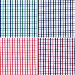 5mm Squares Gingham Lines Stripes Polycotton Shirting Dressmaking Fabric